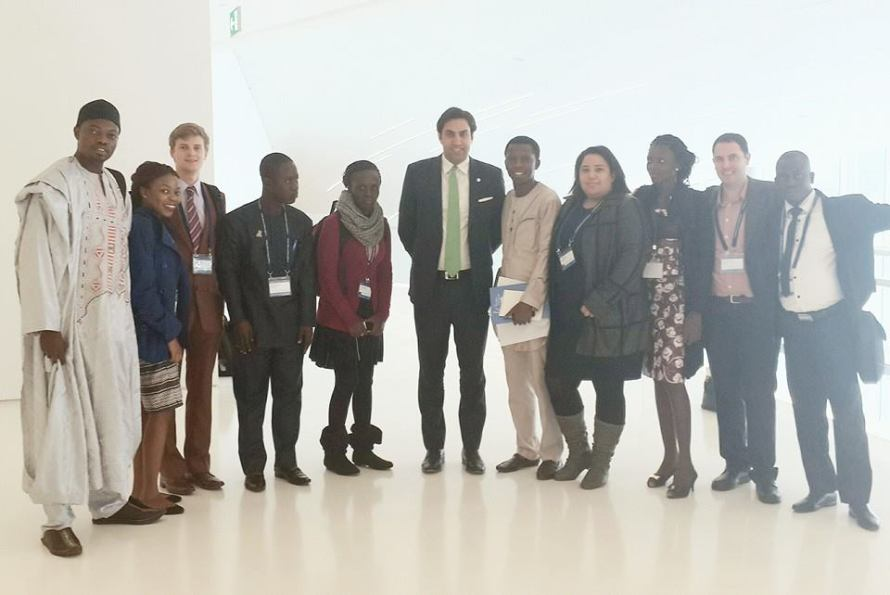 Group photo of the founders of the African Network of Youth Policy Experts with the UN SG Envoy on youth